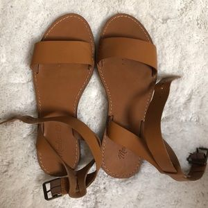 Madewell The Boardwalk Ankle Strap Sandle